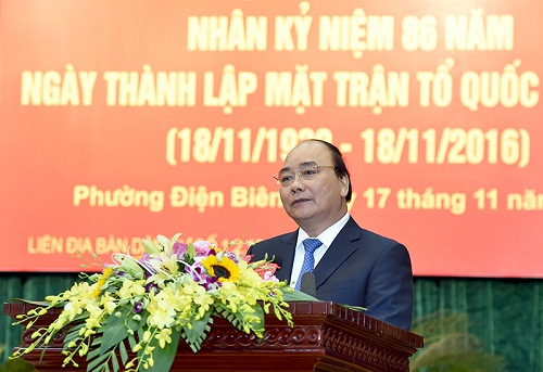 Thủ tướng Nguyễn Xuân Phúc dự ngày hội đại đoàn kết toàn dân - Hình 1
