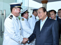 Thủ tướng thăm Trung tâm Phối hợp tìm kiếm cứu nạn hàng hải Khu vực II