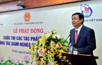 Phó Thủ tướng Vương Đình Huệ dự lễ phát động cuộc thi báo chí về giảm nghèo