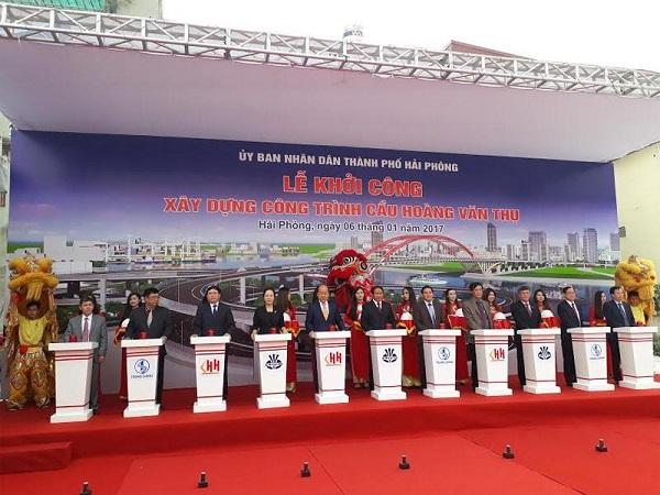 Hải Phòng: Khởi công xây dựng cầu Hoàng Văn Thụ - Hình 1