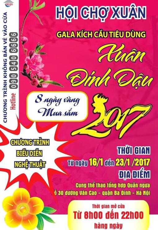 """Hội chợ Xuân (Hà Nội): """"Ga la kích cầu tiêu dùng Xuân Đinh dậu 2017""""! - Hình 1"""