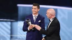 Danh hiệu cầu thủ xuất sắc 2016 của FIFA thuộc về Ronaldo