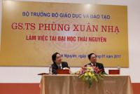 Bộ trưởng Bộ Giáo dục và Đào tạo làm việc tại Thái Nguyên