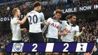 Man City chia điểm Tottenham: Công làm... thủ phá