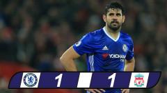 Vòng 23 Premier League: Diego Costa đá hỏng 11m, Chelsea bị Liverpool cầm chân
