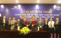 UBND TP. Hà Nội ký hợp tác với Vietnam Airline về phát triển du lịch