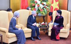 Chủ tịch Quốc hội Nguyễn Thị Kim Ngân hội kiến Nhà vua và Hoàng hậu Nhật Bản