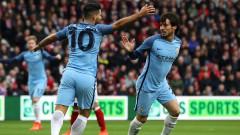 Silva và Aguero tỏa sáng, Man City vào bán kết Cup FA