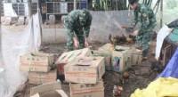 Quảng Ninh: Bắt giữ và tiêu hủy 150 kg gà thịt không rõ nguồn gốc