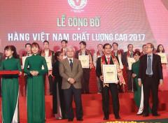 Sagrifood đạt danh hiệu Hàng Việt Nam chất lượng cao 2017