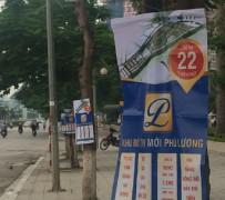 Treo, vẽ quảng cáo trên cột điện, cây xanh bị phạt đến 10 triệu đồng