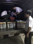 Bạc Liêu: Phát hiện gần 500kg tôm sú chứa tạp chất