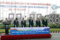 Chủ tịch nước bấm nút đồng hồ chào mừng APEC 2017