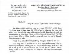 Thông tin về bài Xã Vĩnh Ngọc (Đông Anh, Hà Nội): Chuyển nhượng đất công trái phép