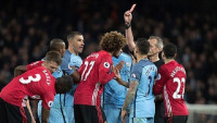 Premier League: Fellaini nhận thẻ đỏ, M.U xuất sắc cầm hòa Man City tại Etihad
