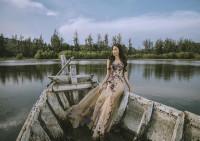 """Lan Khuê """"hóa"""" nữ thần trong trang phục của NTK Hoàng Hải"""