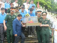 Hà Tĩnh: An táng 12 hài cốt liệt sỹ hy sinh tại nước bạn Lào