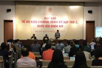 Họp báo công bố chương trình Kỳ họp thứ ba, Quốc hội khóa XIV