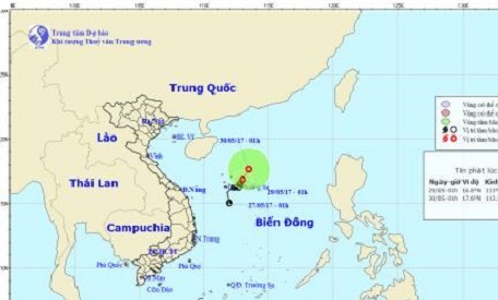 Dự báo thời tiết ngày 29/5: Áp thấp nhiệt đới đang mạnh dần thành bão - Hình 1