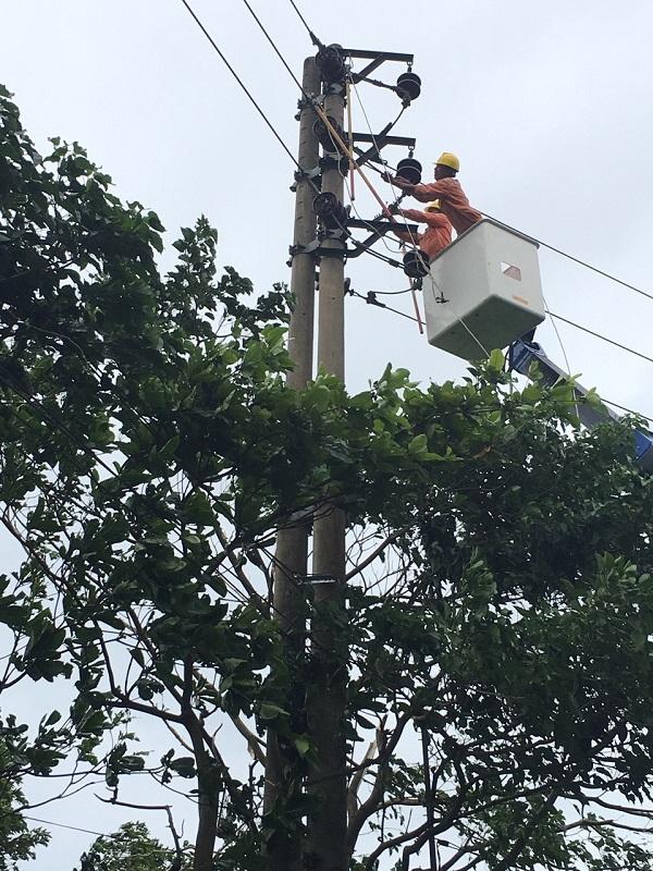 Nỗ lực cấp điện trở lại sau bão số 2 tại các tỉnh phía Bắc Trung Bộ - Hình 1