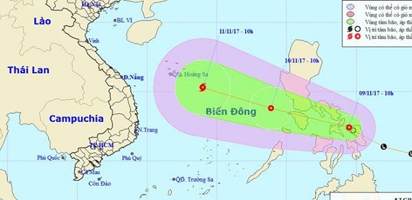 Cơn bão số 13: Miền Trung có khả năng hứng chịu - Hình 2