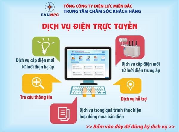 EVNNPC: Chính thức cung cấp dịch vụ điện trực tuyến qua website chăm sóc khách hàng - Hình 1