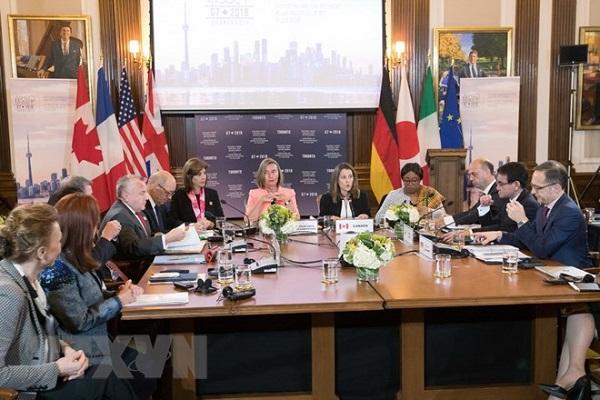 Các Ngoại trưởng G7 ra tuyên bố mạnh mẽ về tình hình Biển Đông - Hình 1