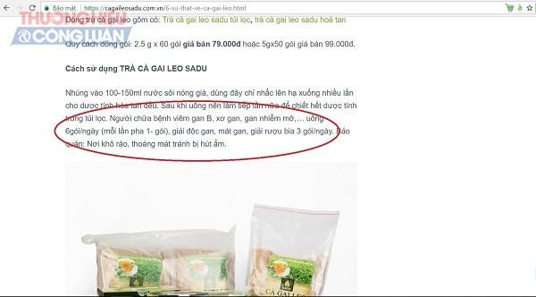 Cà gai leo SADU: Cố tình vi phạm quảng cáo để kích cầu tiêu dùng? - Hình 3
