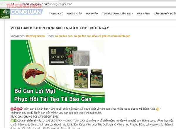 Cà gai leo SADU: Cố tình vi phạm quảng cáo để kích cầu tiêu dùng? - Hình 2