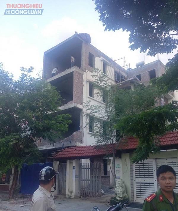 Hà Nội: Cưỡng chế công trình vi phạm trật tự xây dựng tại KĐT Thành phố Giao lưu - Hình 2
