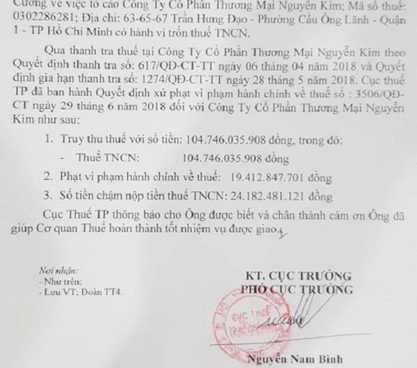 Điện máy Nguyễn Kim bị phạt và truy thu gần 150 tỷ đồng vì trốn thuế - Hình 1