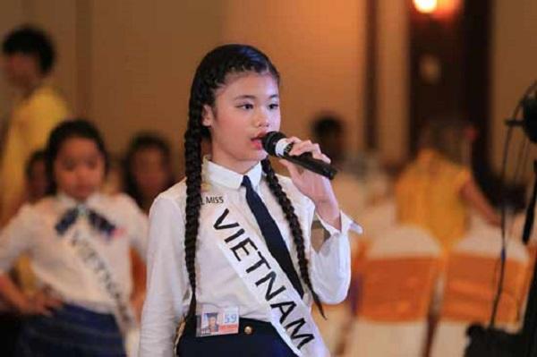 Hoa hậu 11 tuổi Việt Nam với nhiều nét đặc biệt