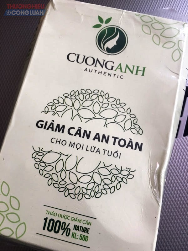 'Nhập nhèm' nhãn mác thực phẩm bảo vệ sức khỏe Trà thảo mộc Cường Anh
