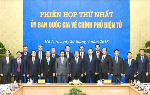 Thủ tướng chủ trì phiên họp đầu tiên của Ủy ban Quốc gia về Chính phủ điện tử - Hình 1