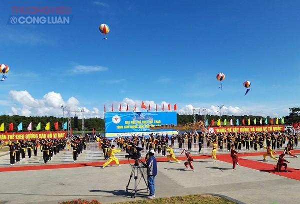 Lâm Đồng: 8000 người tham dự Đại hội thể dục thể thao của tỉnh lần thứ VIII năm 2018 - Hình 1