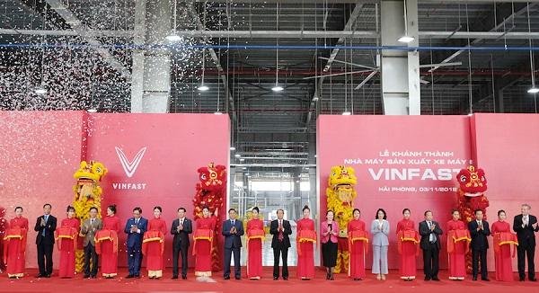 Hải Phòng: Vinfast khánh thành nhà máy sản xuất và ra mắt mẫu xe máy điện thông minh - Hình 1