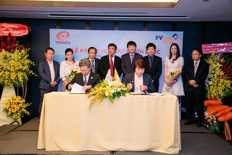Lễ ký kết hợp tác chiến lược giữa Công ty CP Thương mại  XNK Thiên Nam và PVcomBank - Hình 1