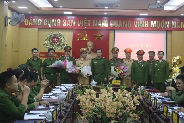 Công an TP. Hà Tĩnh: Công bố thành lập Đội Cảnh sát giao thông, trật tự - Hình 1