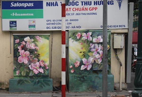 Tết đến 'khoác áo mới' cho 70 tủ điện ở Hà Nội - Hình 2