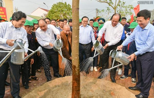 Thủ tướng dự Lễ phát động Tết trồng cây tại Hà Nội - Hình 1