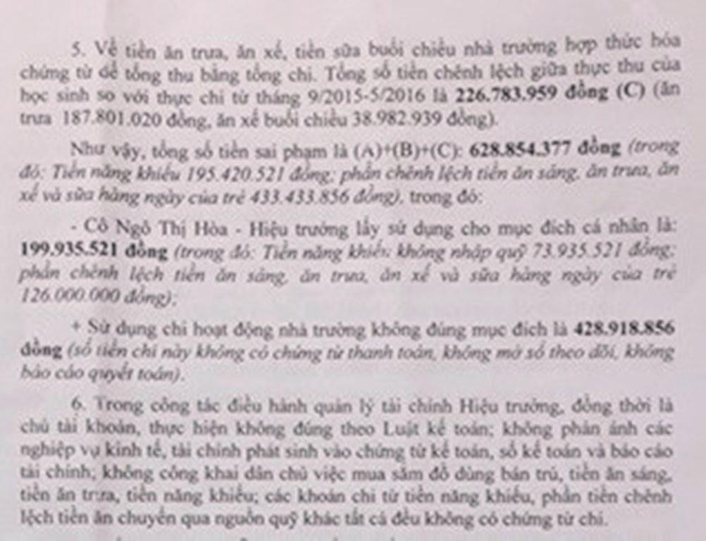 Đà Nẵng: BGH trường mầm non Tuổi Ngọc lĩnh án do cắt xén bữa ăn của trẻ - Hình 3