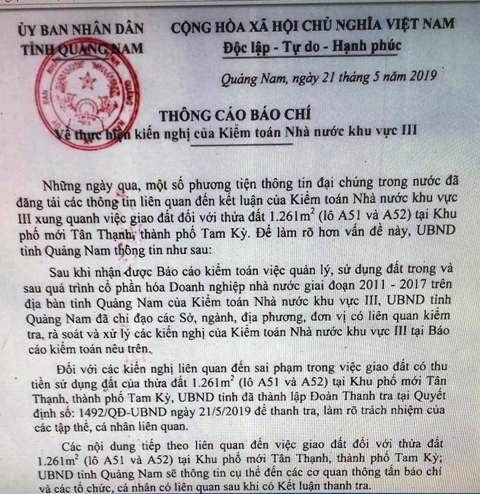 Quảng Nam: Thành lập Đoàn thanh tra xử lý sai phạm sau kiểm toán - Hình 1