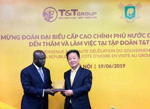 Bộ trưởng Ngoại giao Cộng hòa Bờ Biển Ngà Marcel Amon đến thăm và làm việc tại T&T Group - Hình 3