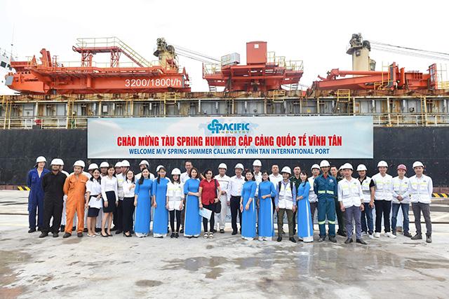 Chuyến tàu quốc tế đầu tiên cập cảng quốc tế Vĩnh Tân - Hình 1