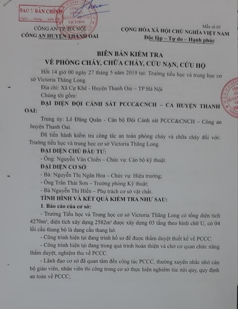 Xung quanh thông tin Trường Victoria Thăng Long tuyển sinh 'chui' - Hình 12