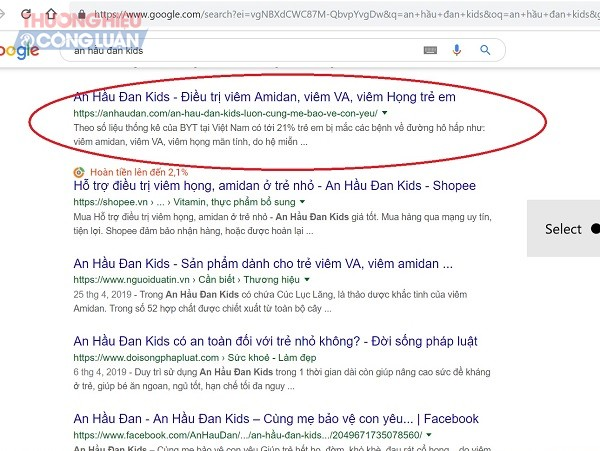 Sản phẩm An Hầu Đan Kids quảng cáo như thuốc chữa bệnh? - Hình 2