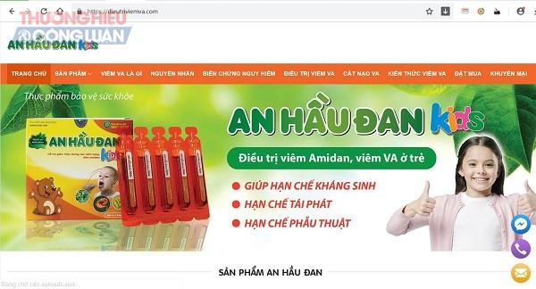 Sản phẩm An Hầu Đan Kids quảng cáo như thuốc chữa bệnh? - Hình 1