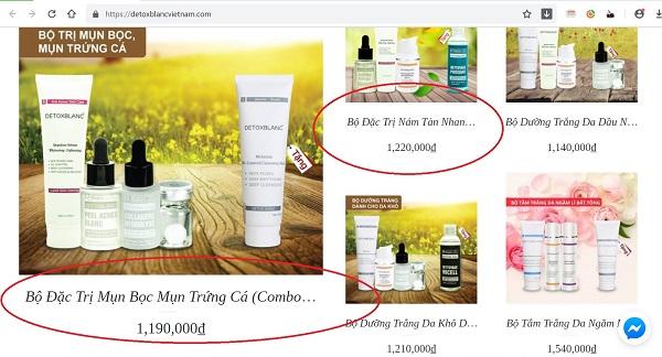 Mỹ phẩm Detox Blanc quảng cáo không đúng về sản phẩm, dối người tiêu dùng? - Hình 1