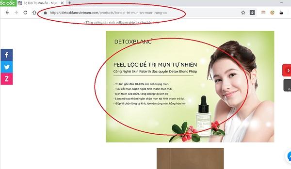 Mỹ phẩm Detox Blanc quảng cáo không đúng về sản phẩm, dối người tiêu dùng? - Hình 2