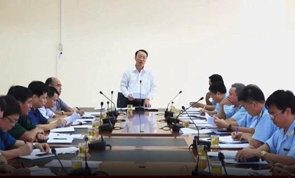 Phó Chủ tịch Nguyễn Công Trưởng phát biểu tại buổi làm việc